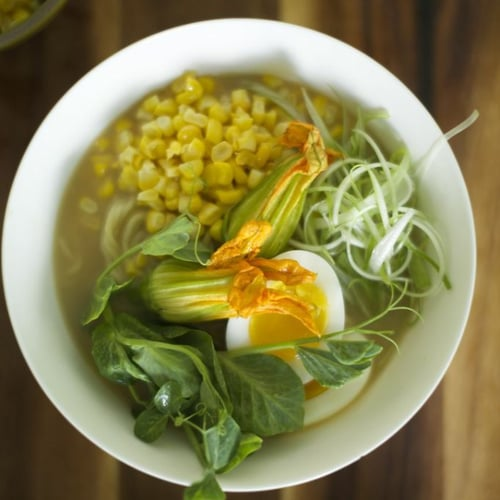 Ramen With Farm-Fresh Egg and Spring Vegetables