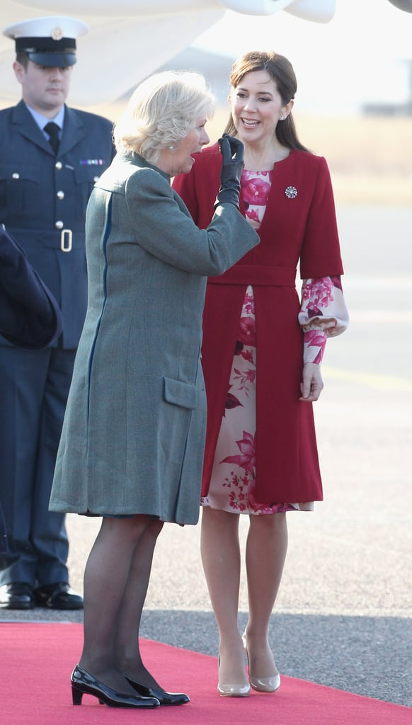 Princess Mary and Prince Frederik Greet Prince Charles and Camilla in Denmark