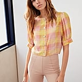 Le Fou Wilfred Alban Cropped Silk Blouse