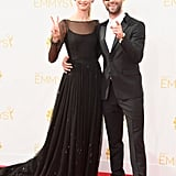 Behati Prinsloo and Adam Levine at the 2014 Emmy Awards