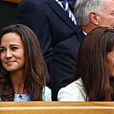 Kate Middleton and Pippa both looked happy as they attended Wimbledon.