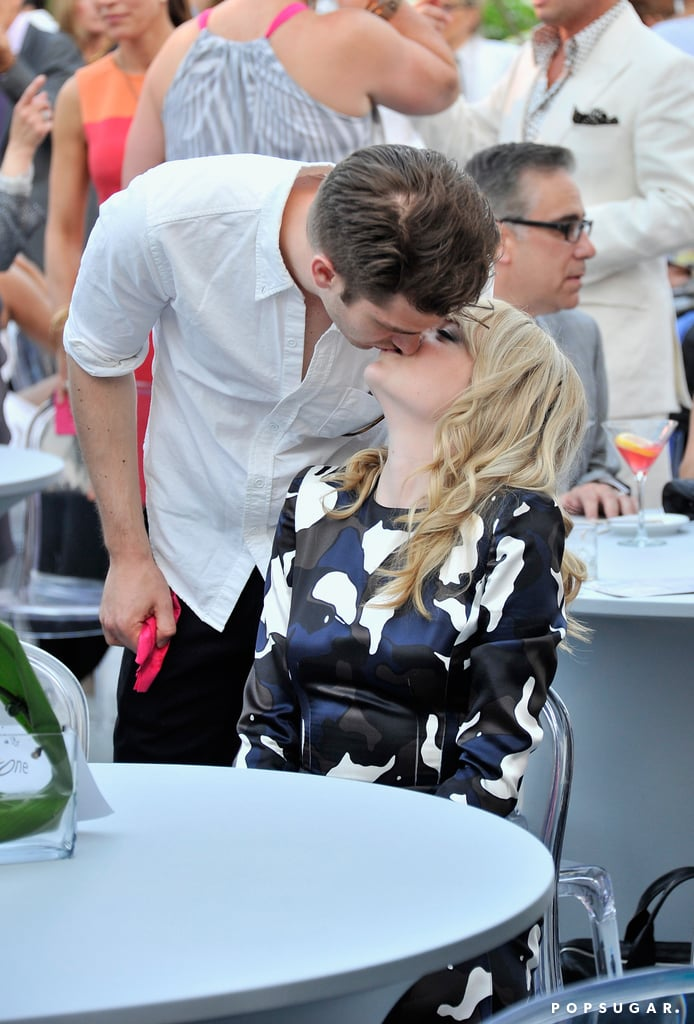 Andrew Garfield kissed Emma Stone at the Peace, Love & A Cure Triple Negative Breast Cancer Foundation benefit in Cresskill, NJ.
