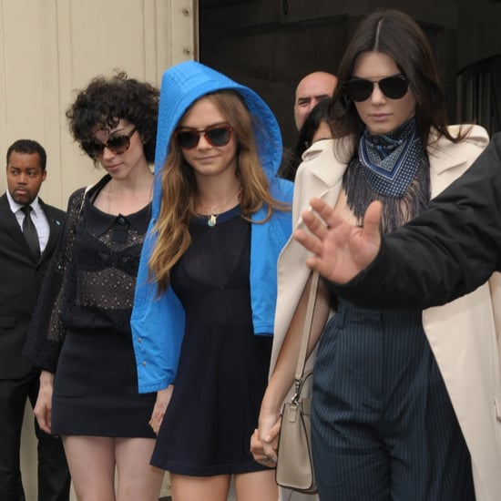 Cara Delevingne With St. Vincent and Kendall Jenner in Paris