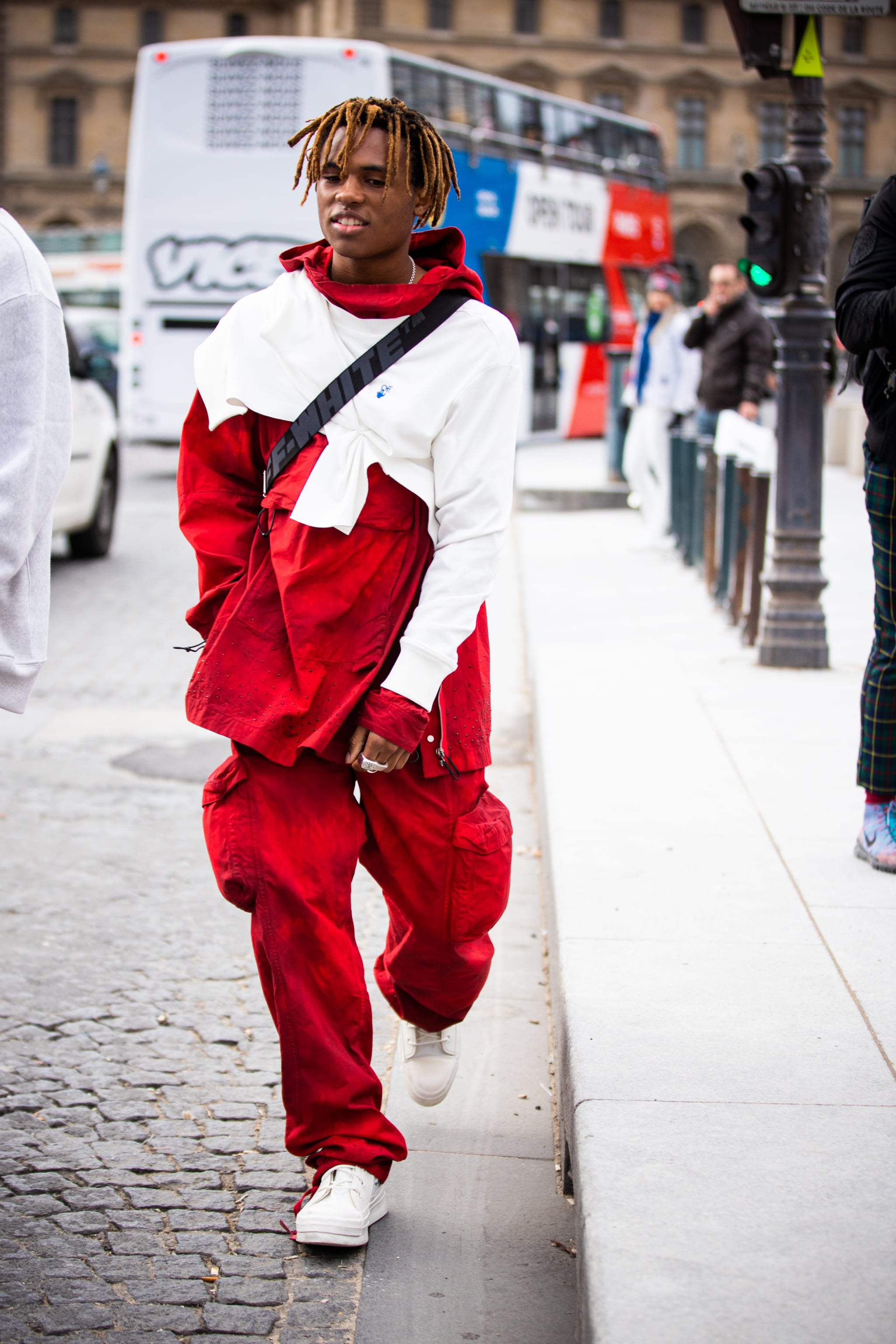 Kailand Morris. | We're Losing Our Minds Over the Incredible Outfits at Men's Fashion Week in Paris | POPSUGAR Fashion Middle East Photo 69