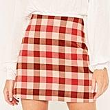 Glassons Check Mini Skirt ($39.99)