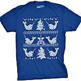 Royal Blue Narwhal Ugly Sweater Tee ($17)