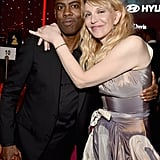 Pictured: Chris Rock and Courtney Love