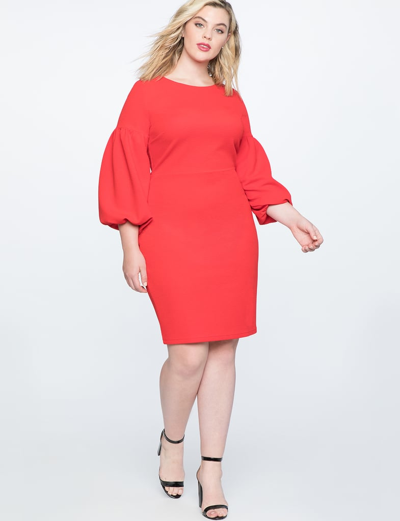 Eloquii Puff Sleeve Bodycon Dress