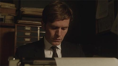 When he was so cute typing on his typewriter.