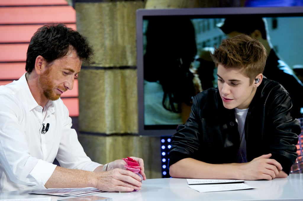 Justin Bieber chatted with the host of El Hormiguero.
