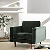 Rivet Aiden Tufted Midcentury Velvet Chair