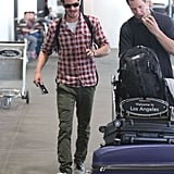 Andrew Garfield arrived in LA.