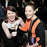 Kate Flannery raised a toast with Michelle Monaghan at the Women in Film event.