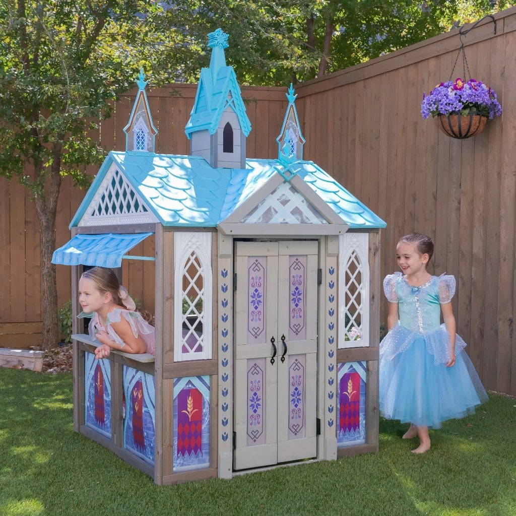 Every princess deserves a castle, and thanks to Costco, your kiddos can live in the lap of luxury only fit for Elsa and Anna. Please turn your attention to Kidkraft's Disney Frozen 2 Arendelle Playhouse ($370), a full-size playhouse that looks like something you'd spot in the German countryside. Equipped with some seriously gorgeous details, flower boxes, and even two chalkboard panels, we have a feeling your little ones will be spending hours in the backyard pretending a pretend snowman. Scroll ahead to get a look at this Bavarian-inspired house that we can pretty much guarantee your kids will never, ever leave.