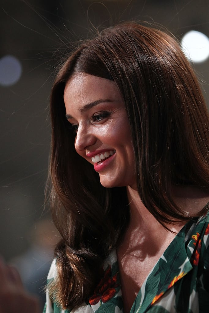 Miranda Kerr was all smiles during the David Jones launch at David Jones Castlereagh Street in Sydney, Australia.
