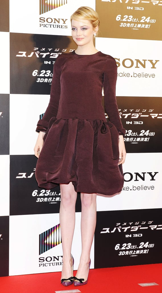 Emma Stone took the stage at The Amazing Spider-Man premiere in Japan.