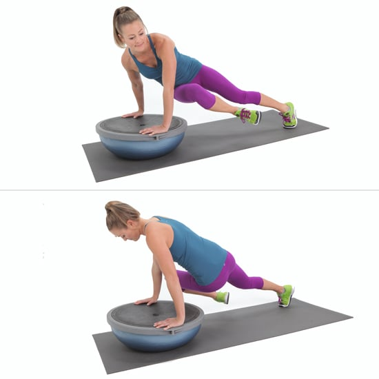 Balance Ball Kick: Oblique Exercises To Tone Stomach