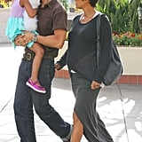 Halle Berry and Olivier Martinez took Nahla to the movies in LA.