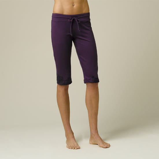 As far as yoga pants go, I'm a big believer in wearing something on the shorter side like these cute praNa Rylee Knickers ($68). When yoga pants are too long, they can cover your feet or ankles and get in the way of what you're trying to accomplish. Also be sure to pick out a dark color if you're worrying about your sweat showing. You never know what kind of intensity a class will bring or how your body will respond.