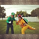 Luigi and Bowser From Super Mario Bros.