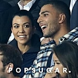 Kourtney Kardashian and Younes Bendjima Kissing Paris 2017