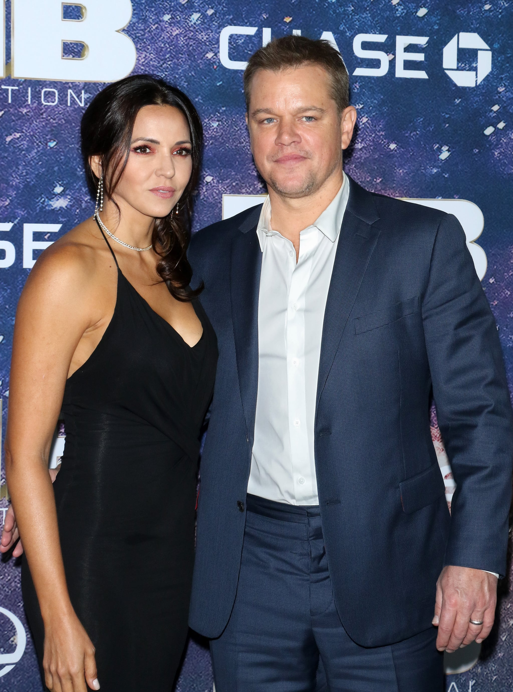NEW YORK, NEW YORK - JUNE 11: Luciana Barroso and actor Matt Damon attend
