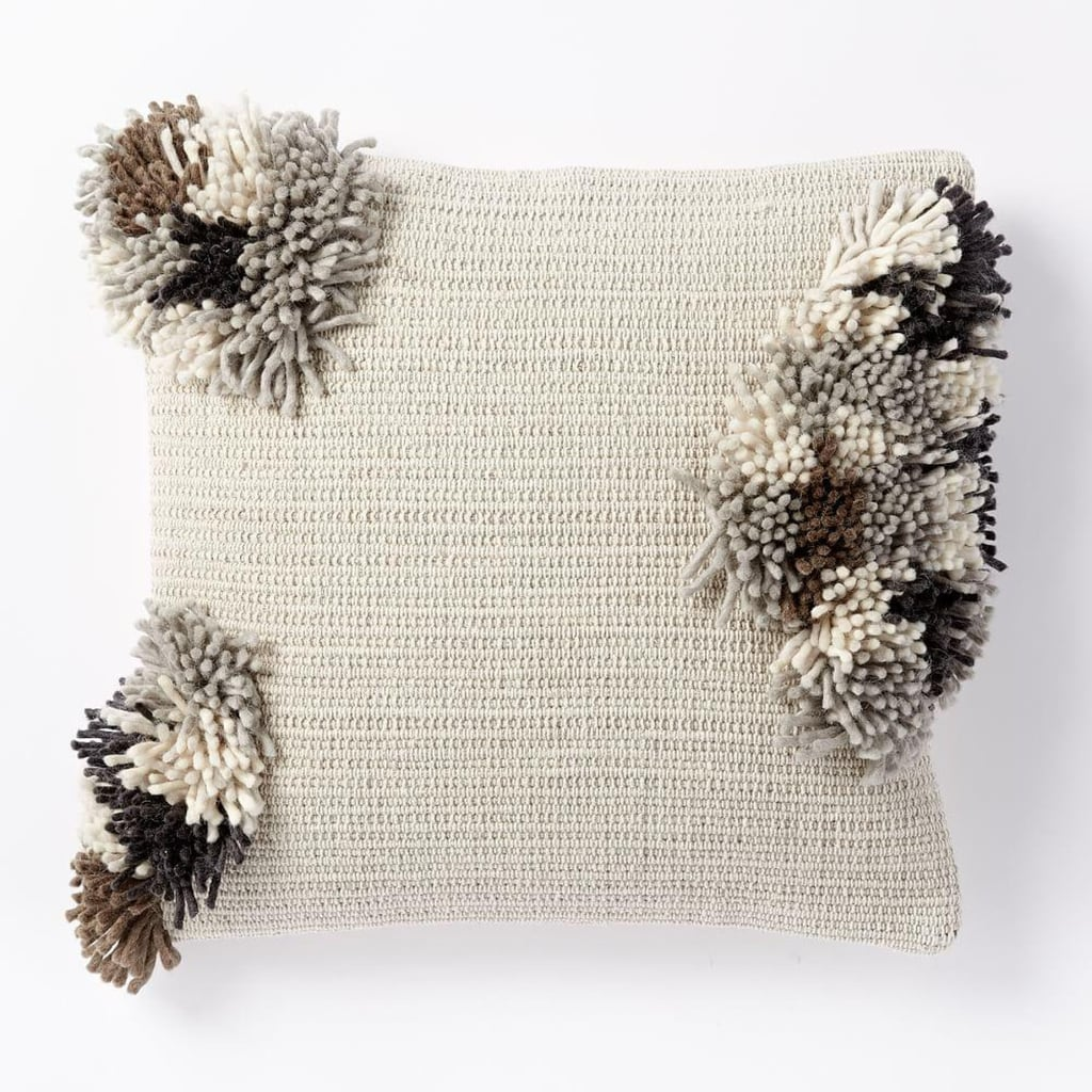 West Elm Cluster Pom Pom Cushion Cover, $59