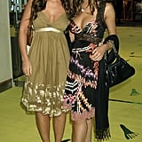 At the premiere of Alien Autopsy in 2006, Cheryl and her Girls Aloud pal Kimberley Walsh coordinated their empire-line frocks.