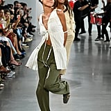 A Dancing Model From the Deveaux Runway at New York Fashion Week