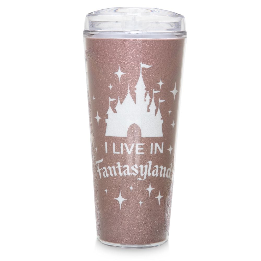 Fantasyland Castle Travel Tumbler — Briar Rose Gold