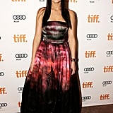 Jennifer Lawrence wowed in a watercolor Christian Dior gown and matching lips at the Silver Linings Playbook premiere at the Toronto Film Festival.