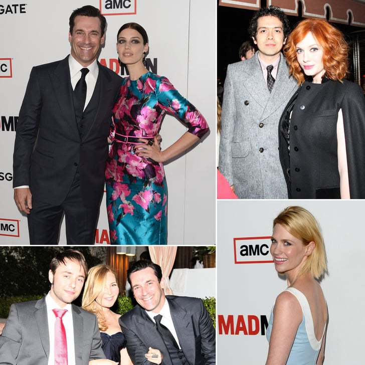 The Cast of Mad Men Celebrates Their Season Premiere and an Engagement
