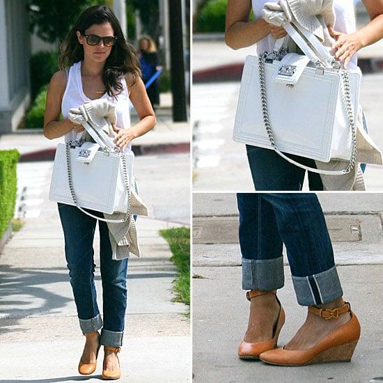 Rachel Bilson Carrying White Chanel Bag
