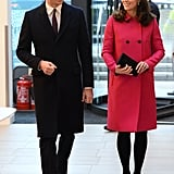 Kate Middleton Pink Mulberry Coat
