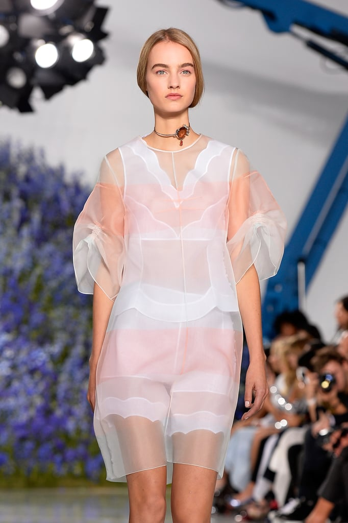 Many Pieces Featured Scalloped Edges And Sheer Layers