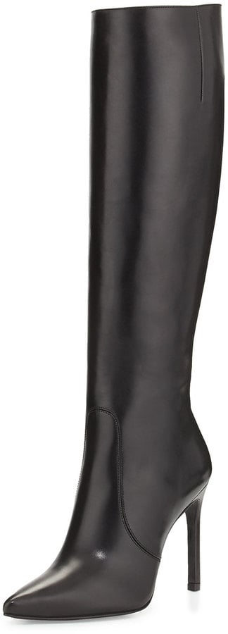 Stuart Weitzman Hyper Pointed-Toe Knee Boot, Black ($765)