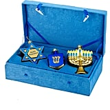 Noble Gems Hanukkah Ornament 3-Piece Set ($160)