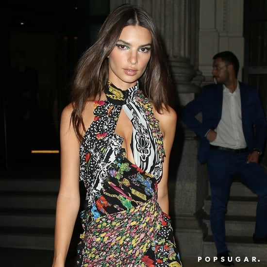 Emily Ratajkowski Versace Minidress September 2018