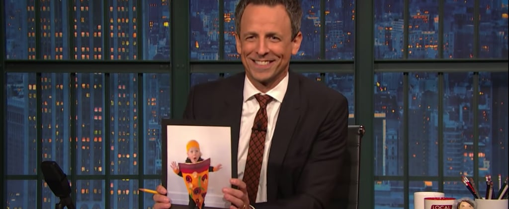 Seth Meyers's Son Dressed as Lion in Pizza Costume