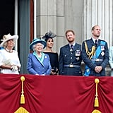 Queen Elizabeth II with her family at the centenary of the RAF in 2018
