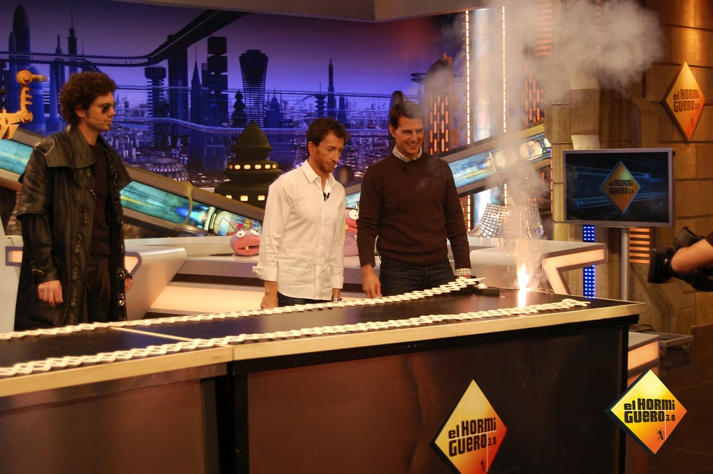 The set of El Hormiguero sizzled when Tom Cruise hit the stage.