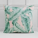 The Emily & Meritt Palm Print Euro Pillow Cover ($40)