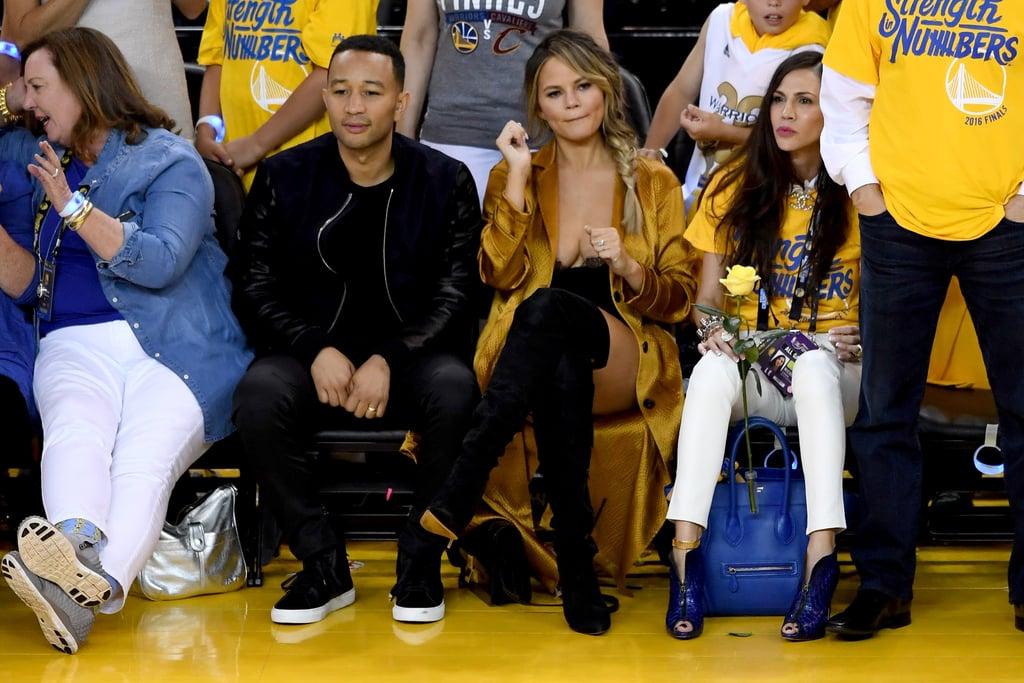 Chrissy Teigen's Outfit at NBA Finals 2016