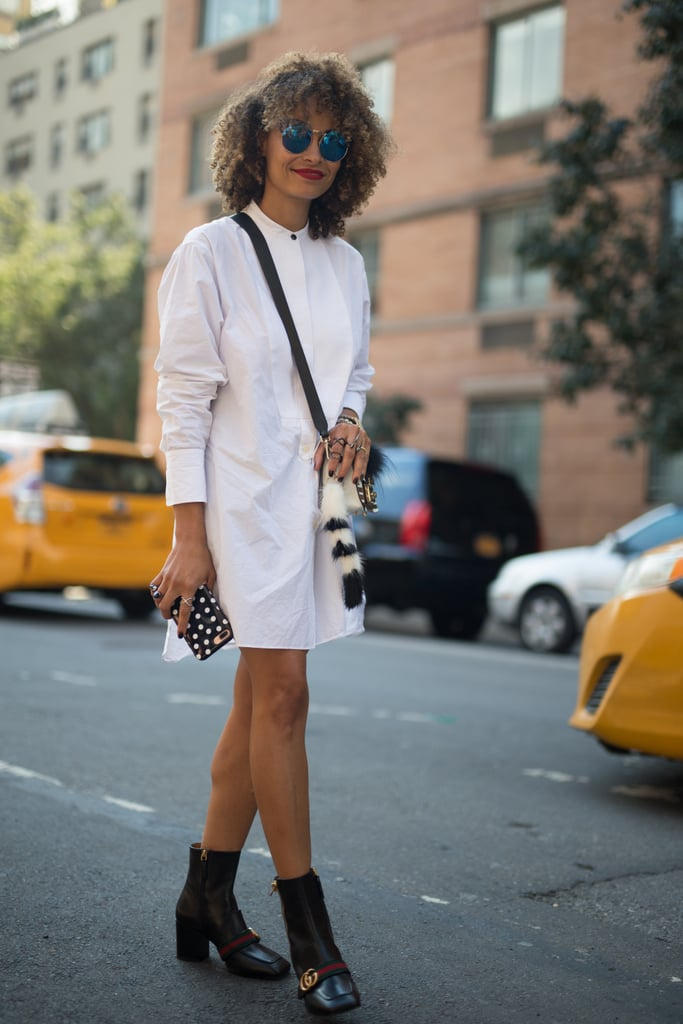 Style Your White Dress With Black Ankle Boots