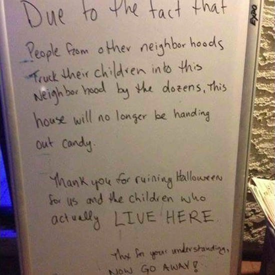 Trick or Treating Sign Sparking Debate