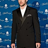 Justin Timberlake posed on the red carpet.