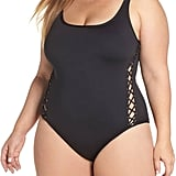 La Blanca Lace-Up Side One-Piece Swimsuit