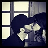 Ricki-Lee celebrated her anniversary with a kiss. Source: Instagram user therickilee