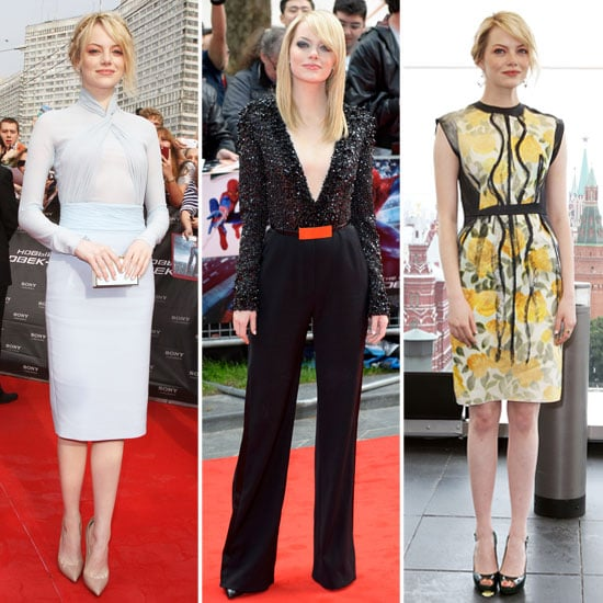 See Emma Stone's Spider-Man Press Tour Wardrobe: Every Red Carpet Look Is a Winner! The Latest? An Elie Saab Jumpsuit