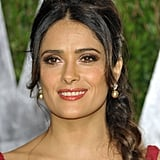 Salma Hayek up close at the Vanity Fair party.